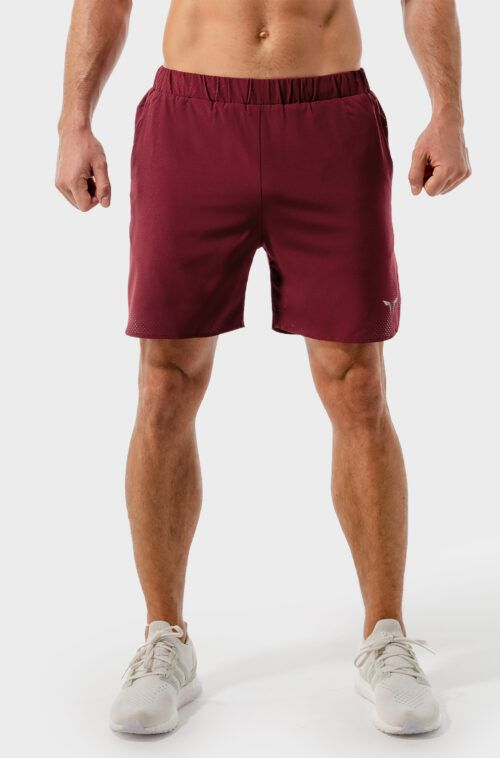 SQUATWOLF-workout-short-for-men-2-in-1-dry-tech-shorts-maroon-gym-wear