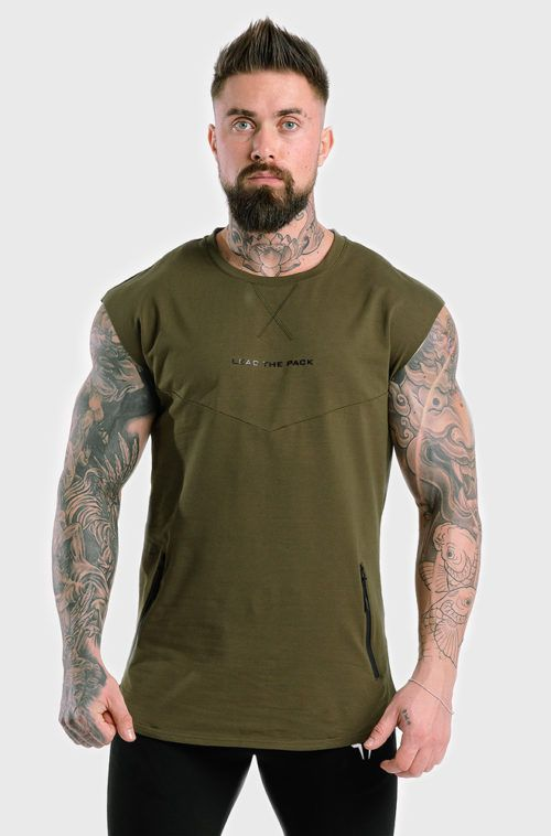 statement-drop-shoulder-top-melange-olive