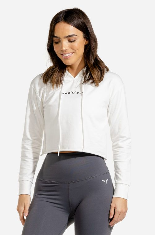 SQUATWOLF-gym-hoodies-women-she-wolf-crop-hoodie-white-workout-clothes