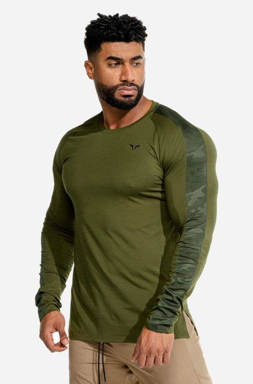 squatwolf-workout-shirts-for-men-limitless-long-sleeves-tee-khaki-gym-wear