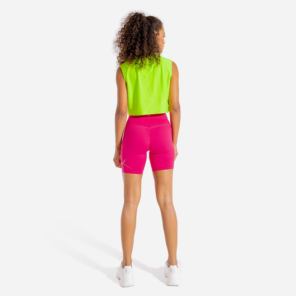 Vibe Cycling Shorts - Neon Athleisure Shorts for women by