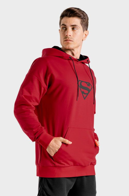 SQUATWOLF-workout-hoodies-for-men-superman-gym-hoodie-red-gym-wear