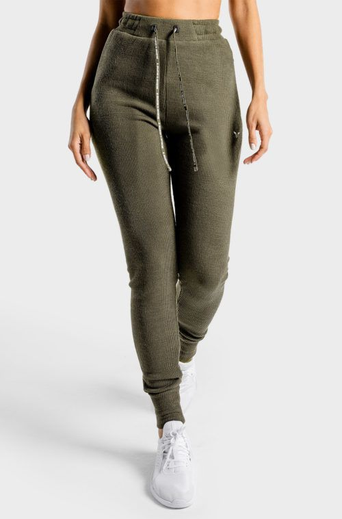 SQUATWOLF-pants-for-women-luxe-joggers-olive-gym-workout-clothes
