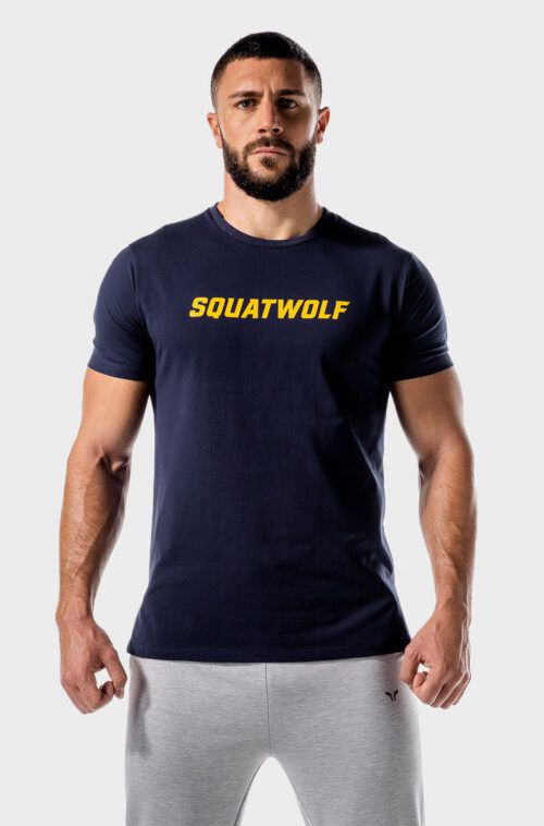 squatwolf-gym-t-shirts-for-women-iconic-muscle-tee-navy-blue-workout-clothes
