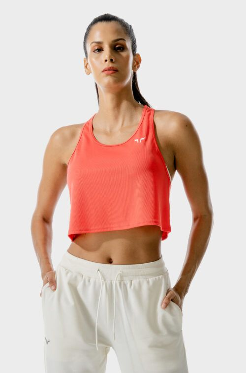 SQUATWOLF-gym-tank-tops-for-women-lab-360-crop-tank-hot-coral-workout-clothes