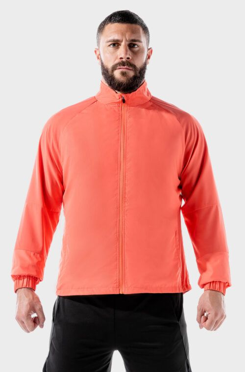 SQUATWOLF-running-tops-for-men-lab-360-performance-windbreaker-hot-coral-gym-wear