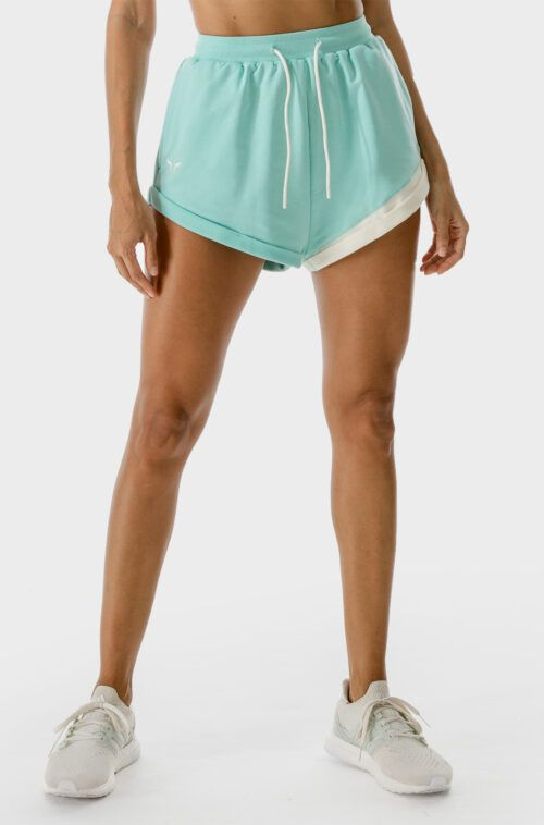 SQUATWOLF-gym-shorts-for-women-lab-shorts-pastel-turquoise-workout-clothes