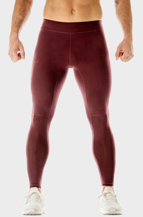 SQUATWOLF-gym-leggings-for-men-360-performance-tights-tawny-port-workout-clothes