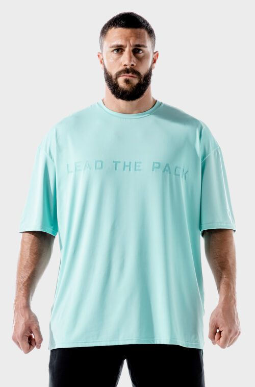 SQUATWOLF-workout-shirts-for-men-lab-360-oversized-tee-pastel-turquoise-gym-wear