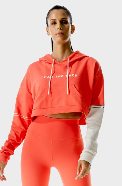 SQUATWOLF-gym-hoodies-women-lab-360-crop-hoodie-hot-coral-workout-clothes