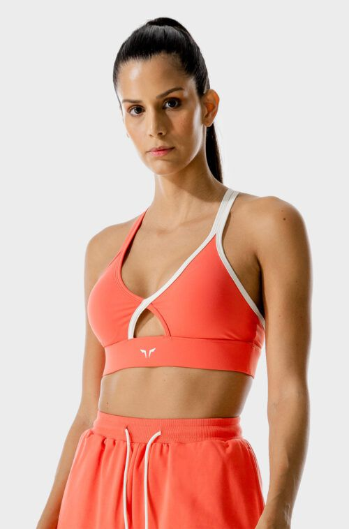 SQUATWOLF-sports-bra-for-gym-lab-360-wrap-bra-hot-coral-workout-clothes