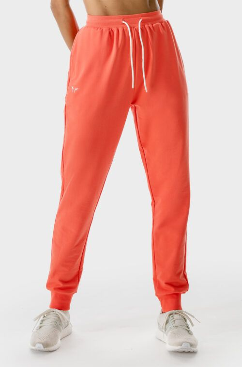 SQUATWOLF-gym-pants-for-women-lab-joggers-hot-coral-workout-clothes