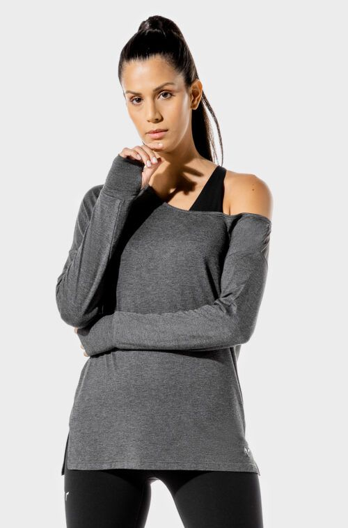 SQUATWOLF-workout-clothes-womens-fitness-asymmetric-top-black-gym-t-shirts
