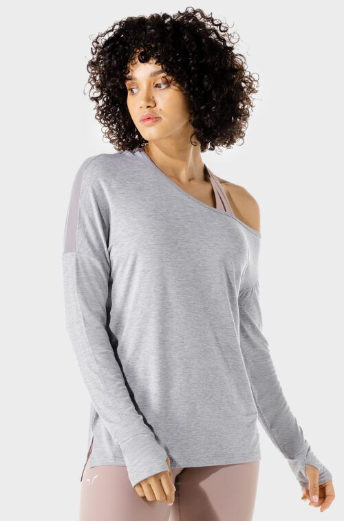 SQUATWOLF-workout-clothes-womens-fitness-asymmetric-top-grey-gym-t-shirts