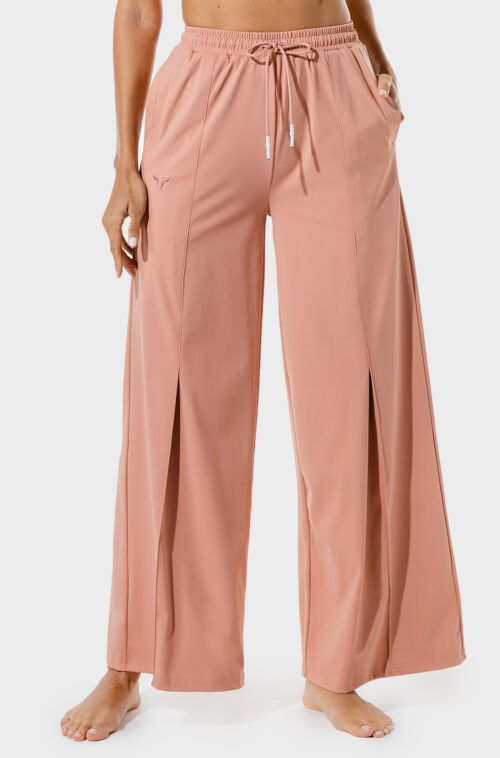squatwolf-workout-clothes-womens-fitness-wide-leg-pants-pink-gym-pants
