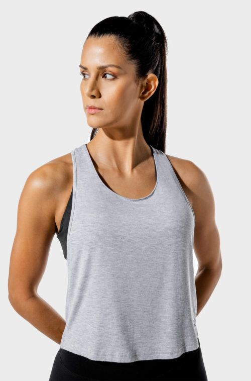 SQUATWOLF-workout-clothes-womens-fitness-wrap-tank-grey-gym-tank-tops